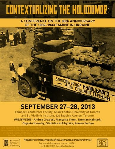 Main image Contextualizing the Holodomor: A Conference on the 80th Anniversary of the 1932-1933 Famine in Ukraine