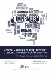 Empire, Colonialism, and Famine in Comparative Historical Perspective: The Bengal, Irish, and Ukrainian Famines
