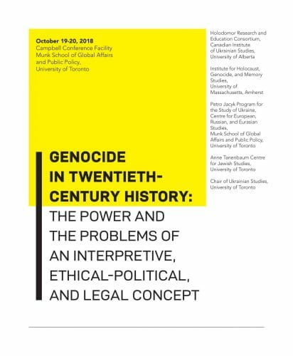 Main image Genocide in Twentieth-Century History: The Power and the Problems of an Interpretive, Ethical-Political, and Legal Concept
