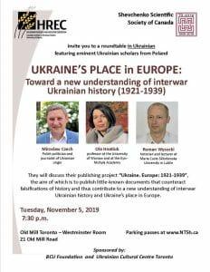 Ukraine's Place in Europe: Toward a new understanding of interwar Ukrainian history (1921-1939)