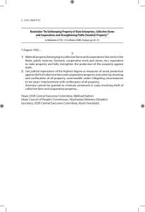 Resolution On Safekeeping Property of State Enterprises