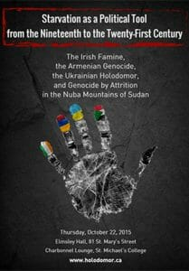 Starvation As A Political Tool From The Nineteenth To The Twenty-First Century: The Irish Famine, The Armenian Genocide, The Ukrainian Holodomor And Genocide By Attrition In The Nuba Mountains Of Sudan